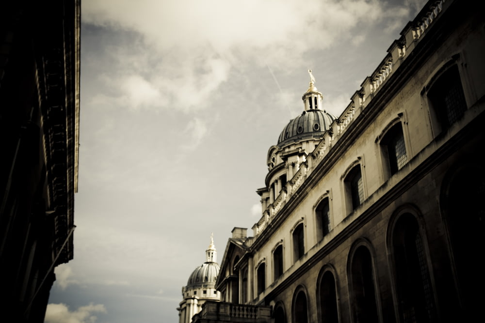 low-angle photography of cathedral