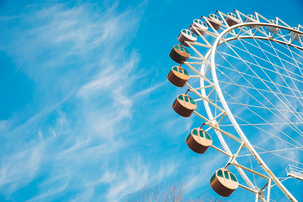 white Ferris wheel under clear sky during daytime