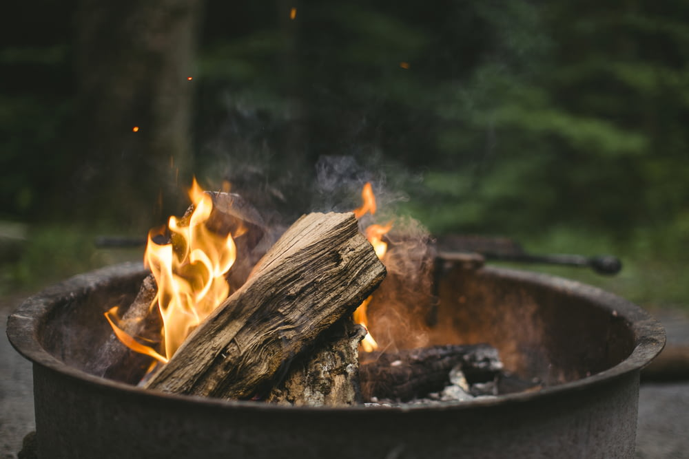 photo of flames on firepit
