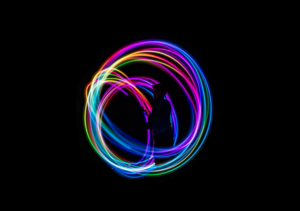 time-lapse photography of lights