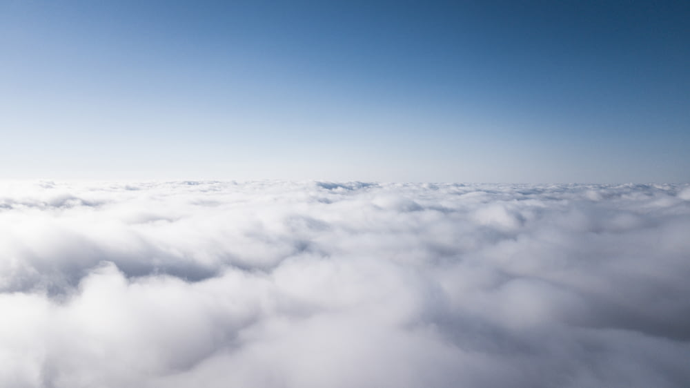 photo of thick white clouds