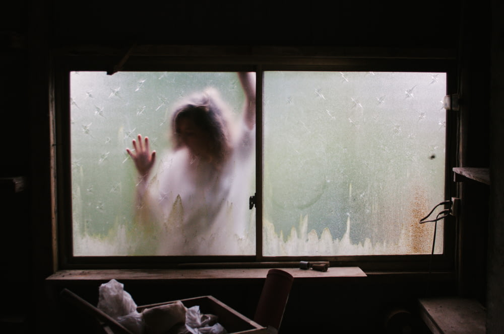 person outside the window