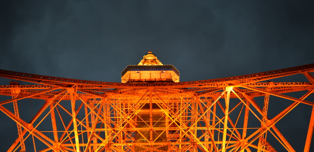 high-angle photography of Eiffel Tower during night time