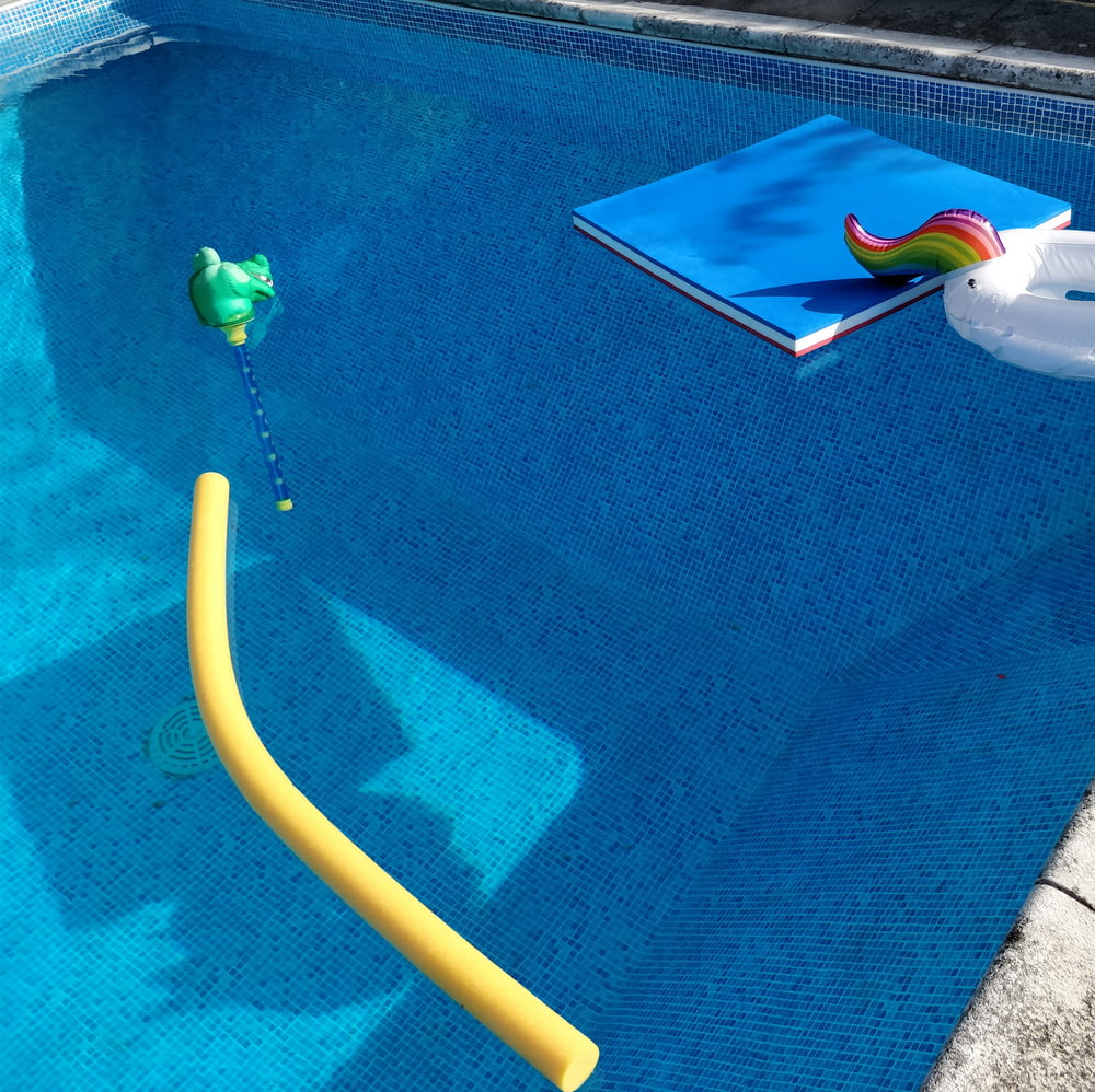unicorn floater in water pool