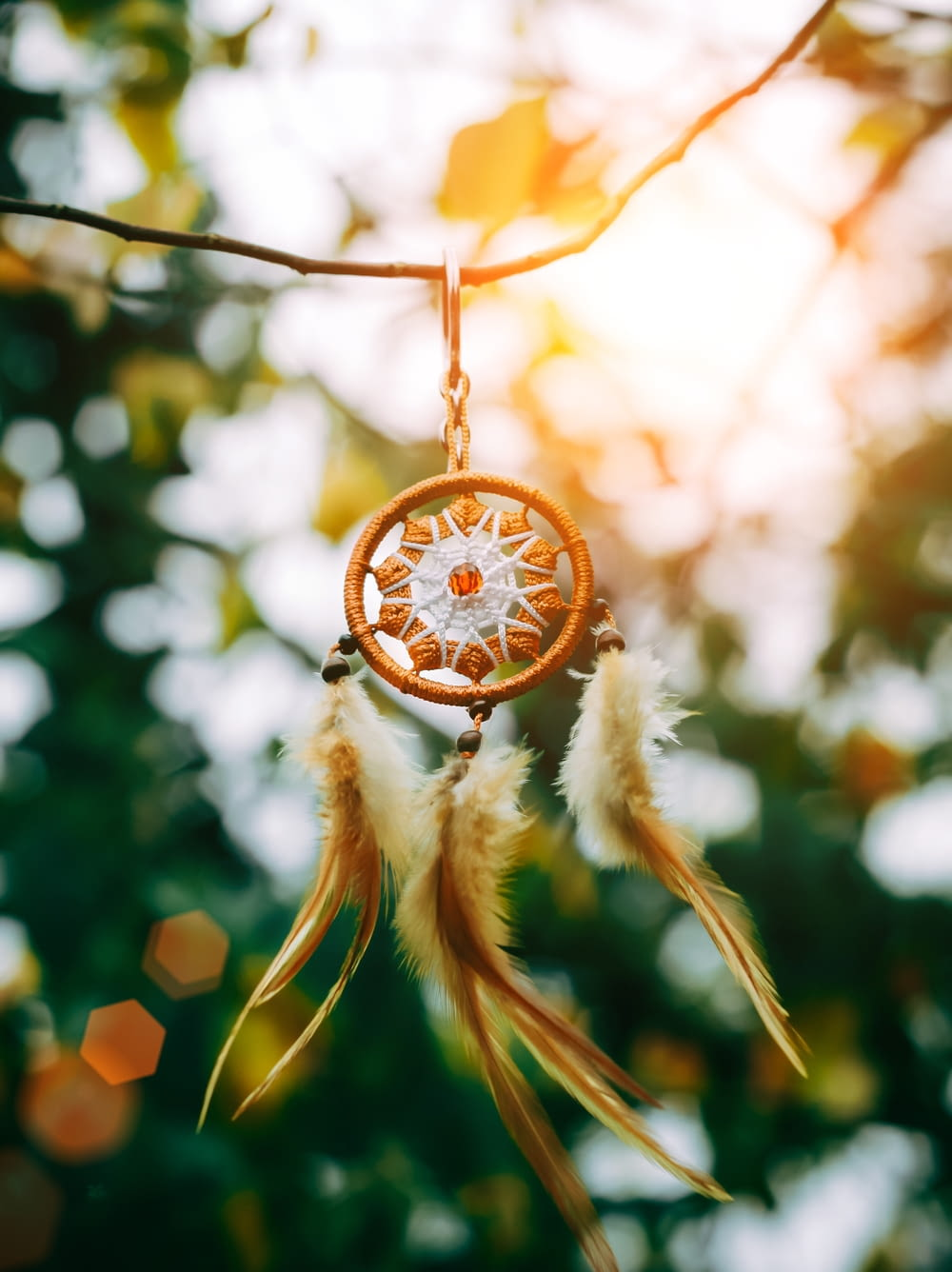 round brown wooden dream catcher