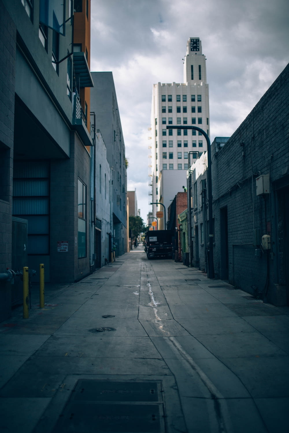 architectural photography of street