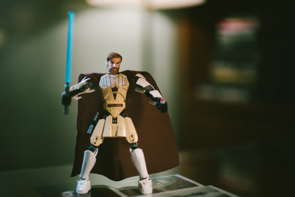 white Star Wars action figure