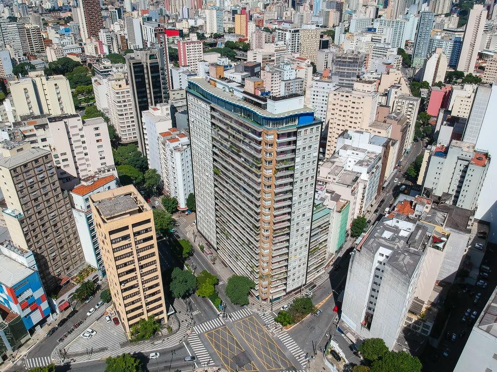 aerial photography of city buildings