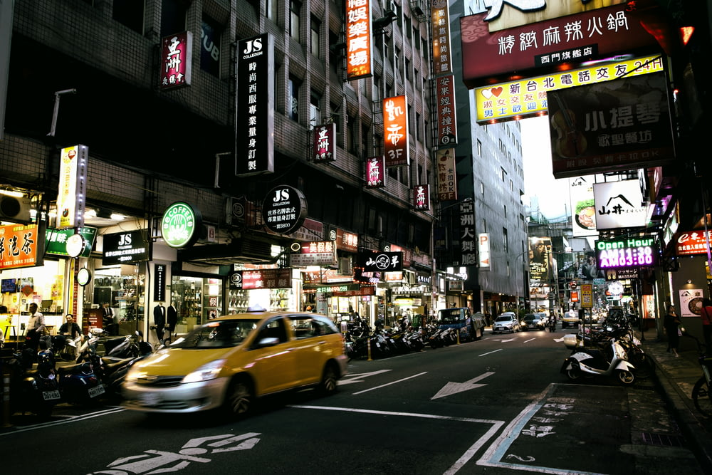 time lapse photography of street