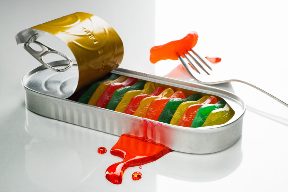 candy in can