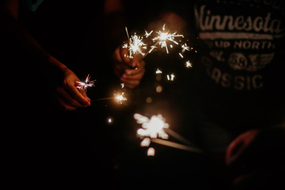 person holding fireworks