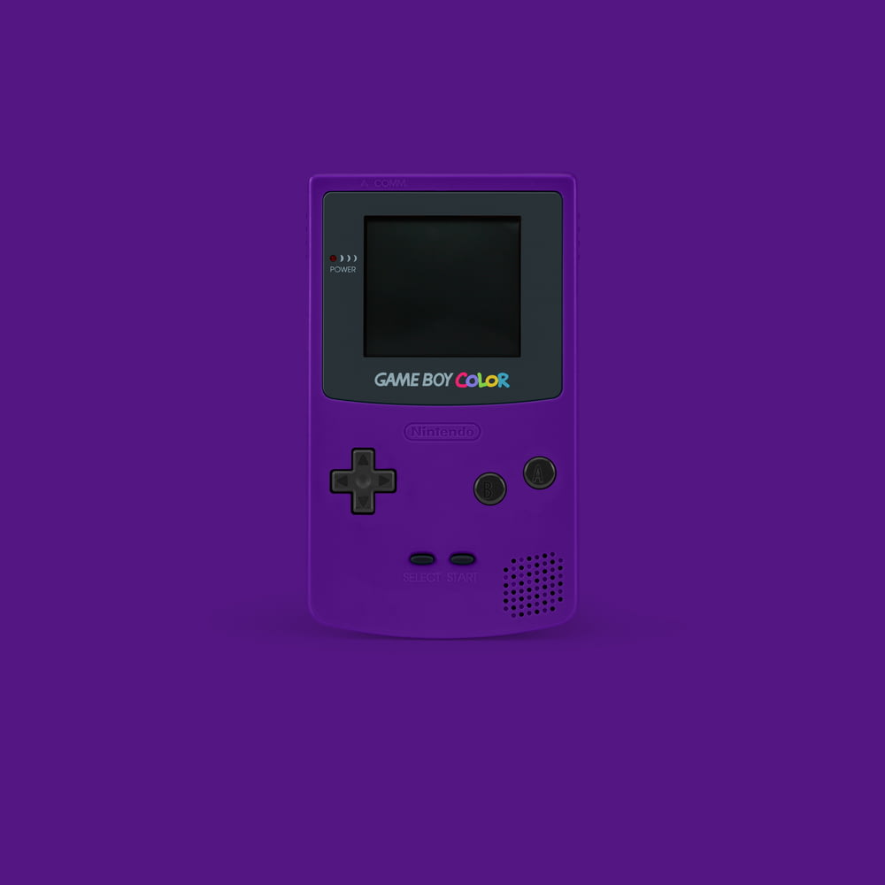 purple Nintendo GameBoy Color