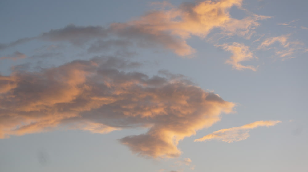 orange and white clouds photography