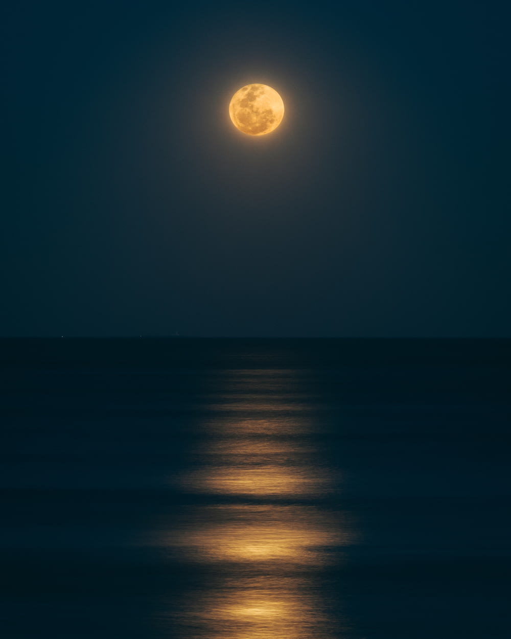 sea under full moon