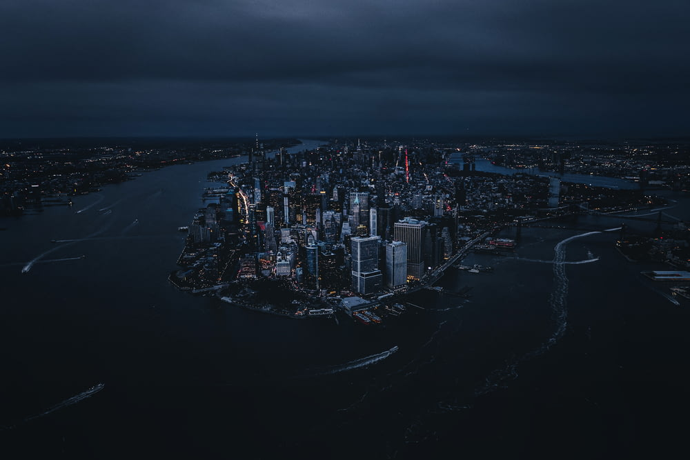 areal photography of city buildings