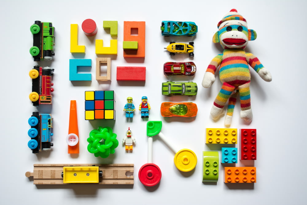 multicolored learning toys