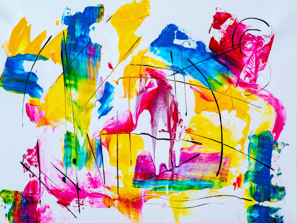 assorted-color paint strokes artwork