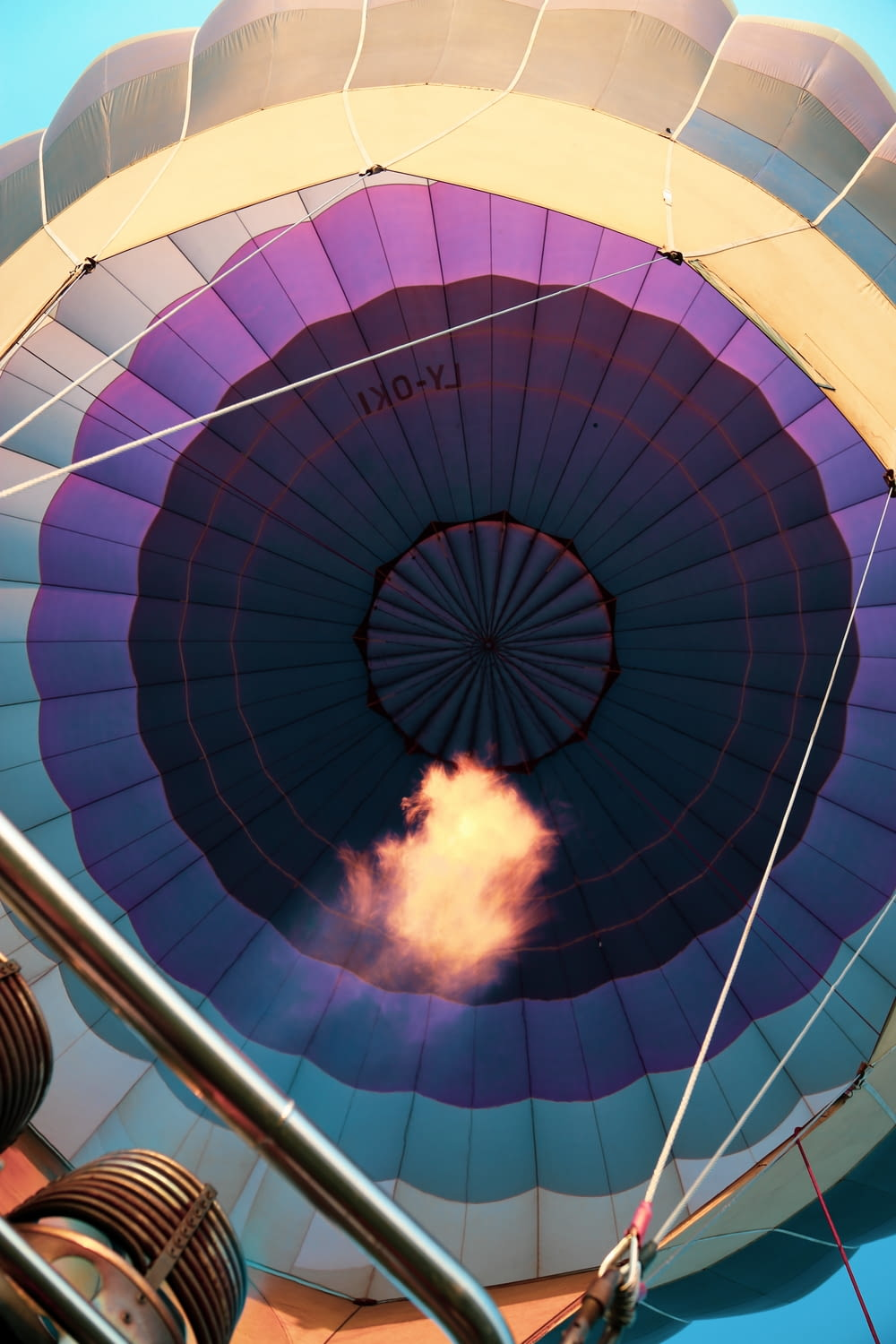 low-angle photography of multicolored hot air balloon \