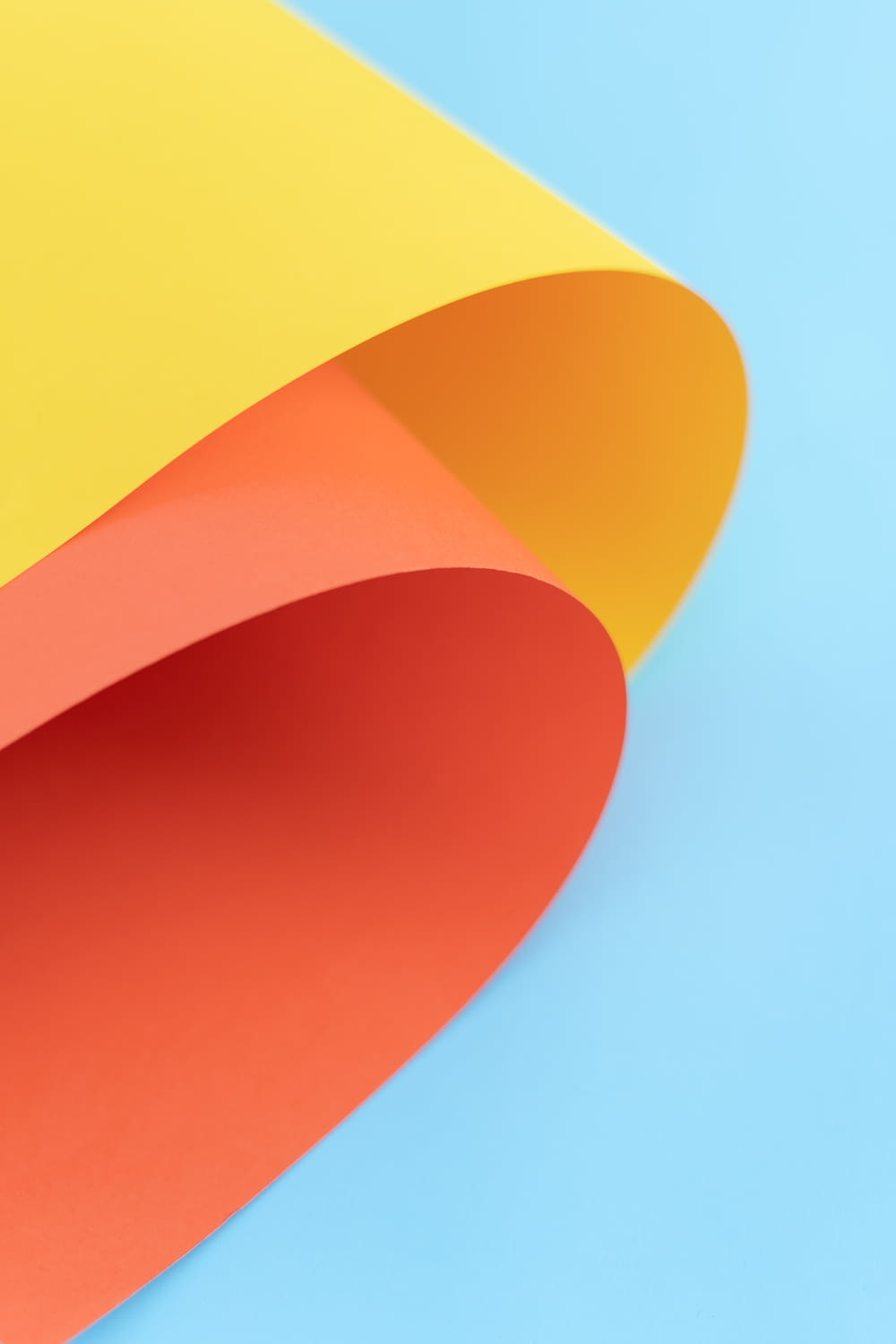 yellow, orange, and red abstract art wallpaper
