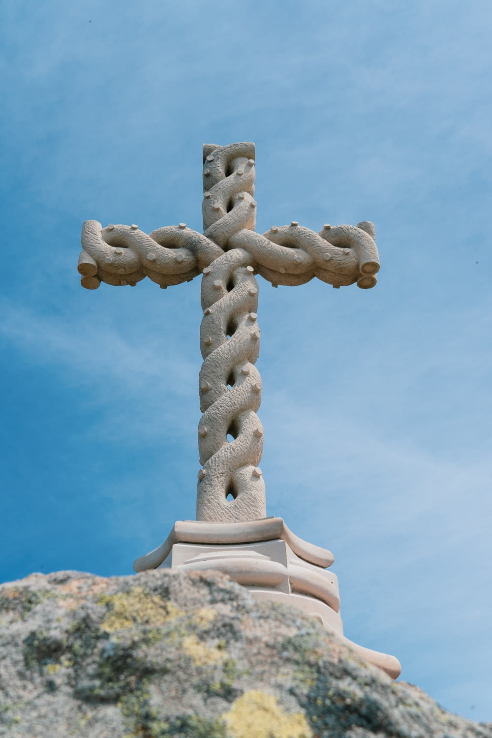 spiral cross sculpture