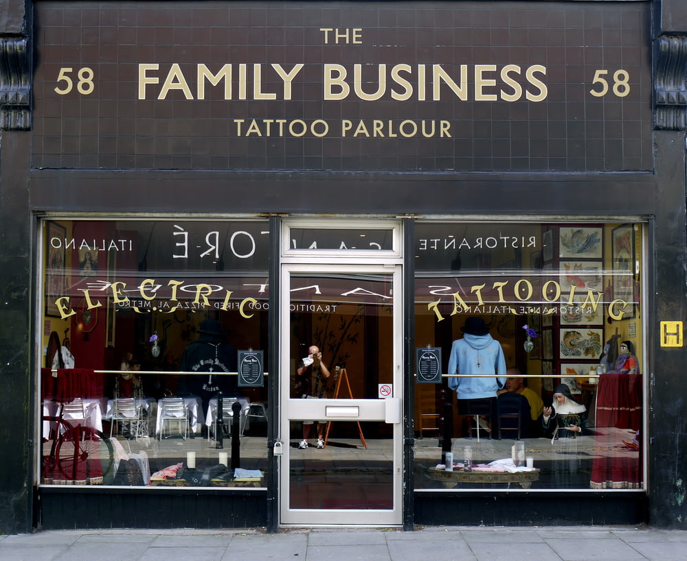 The Family Business Tattoo Parlour shop close-up photography