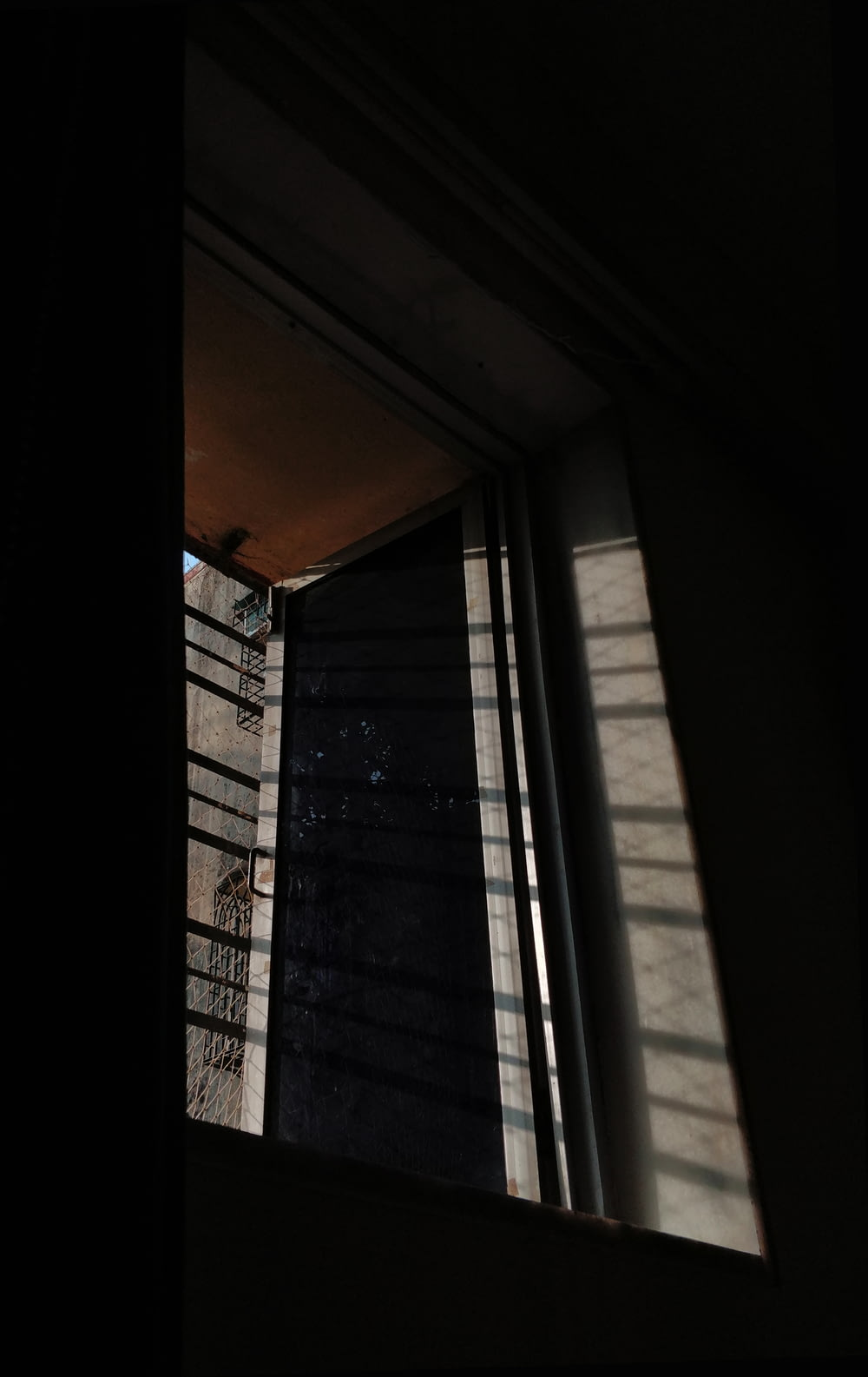 view of glass window with shadow