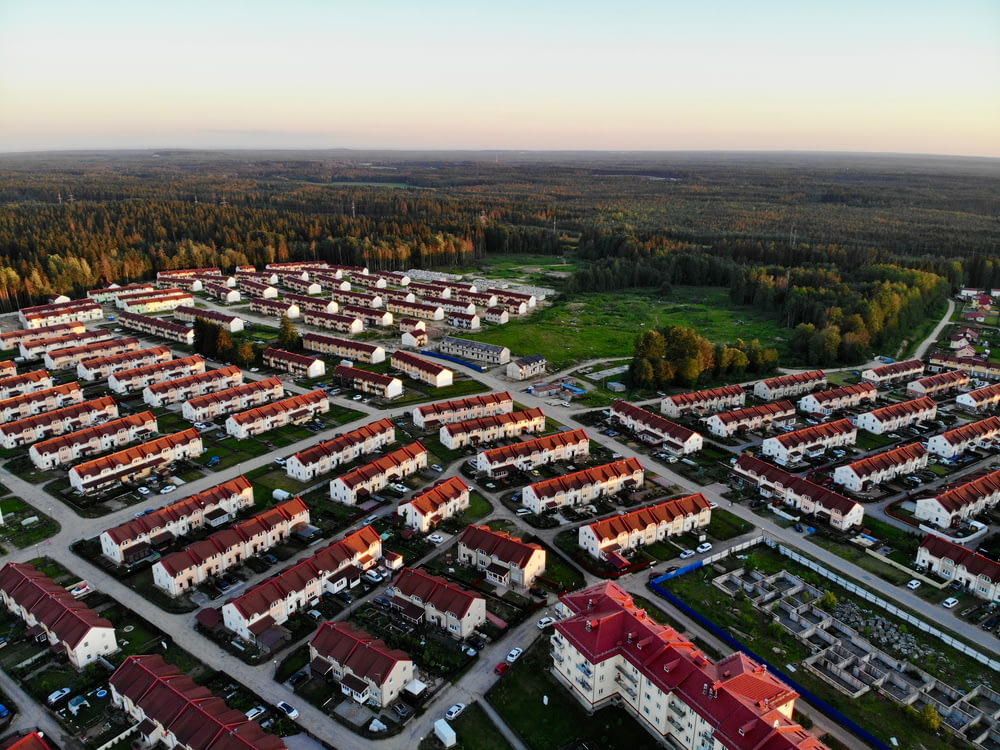 aerial photography of housing