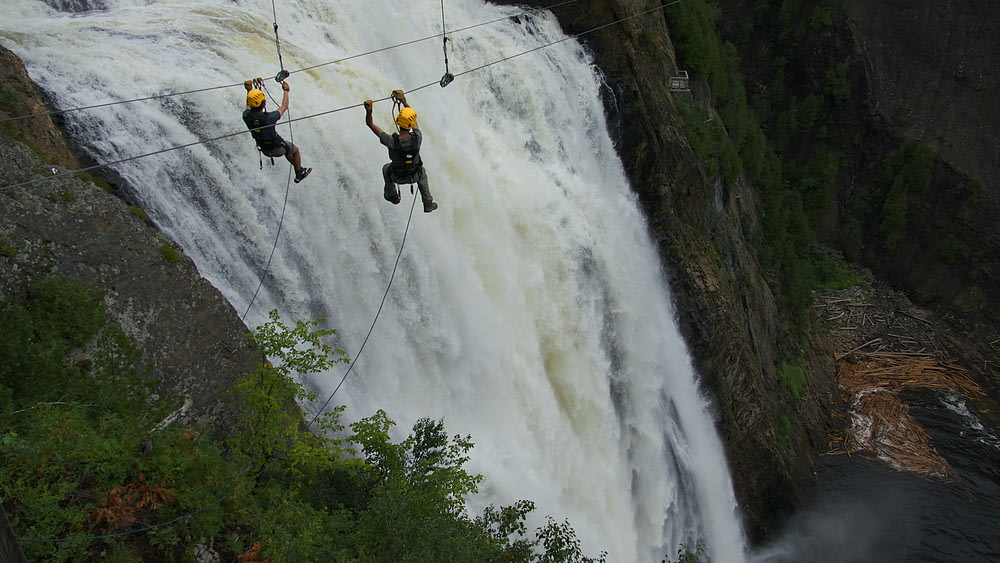 two person on wire