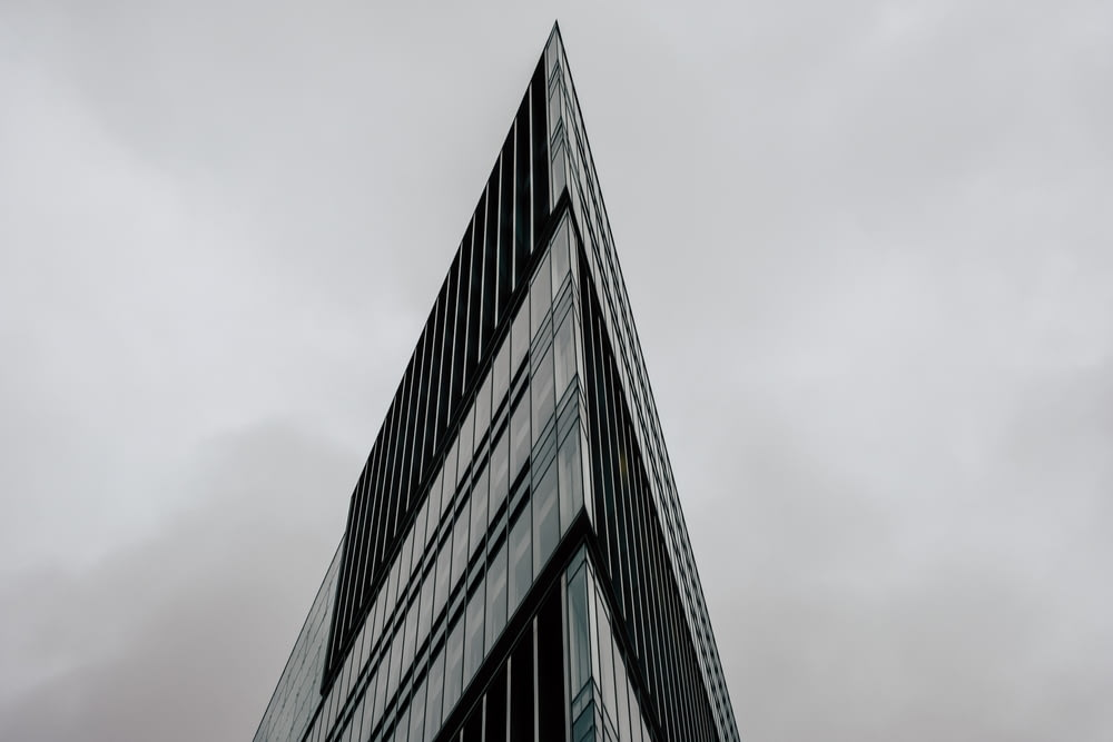 pointed glass building