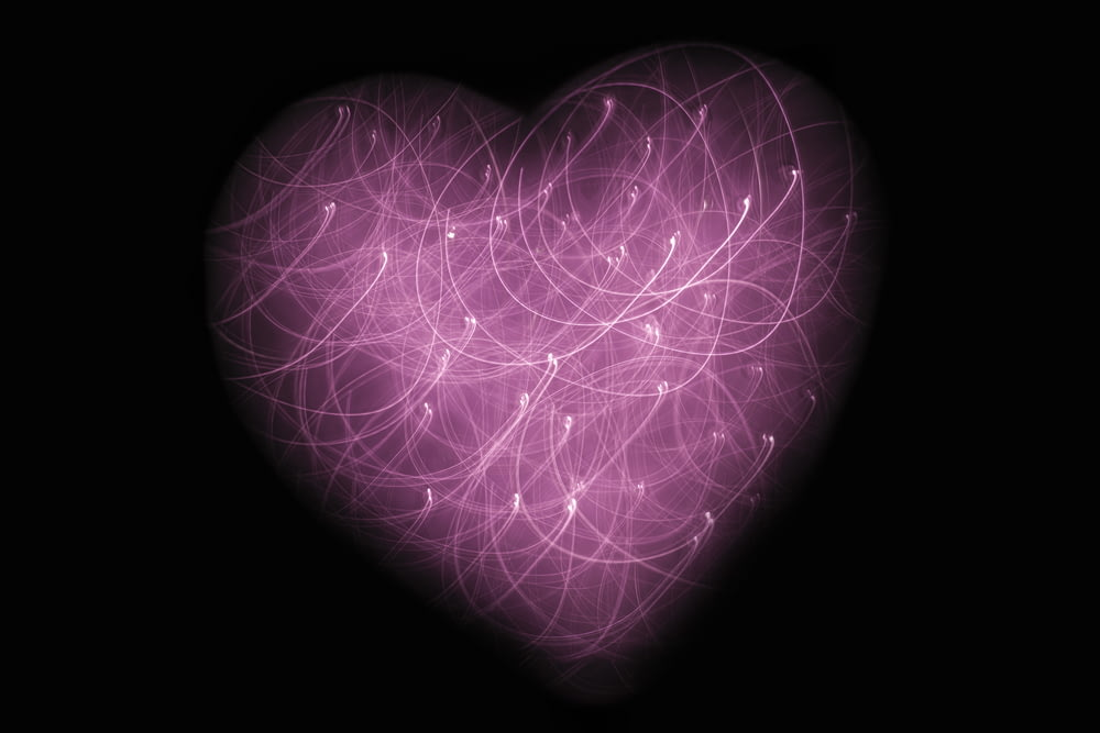 pink heart multicolored