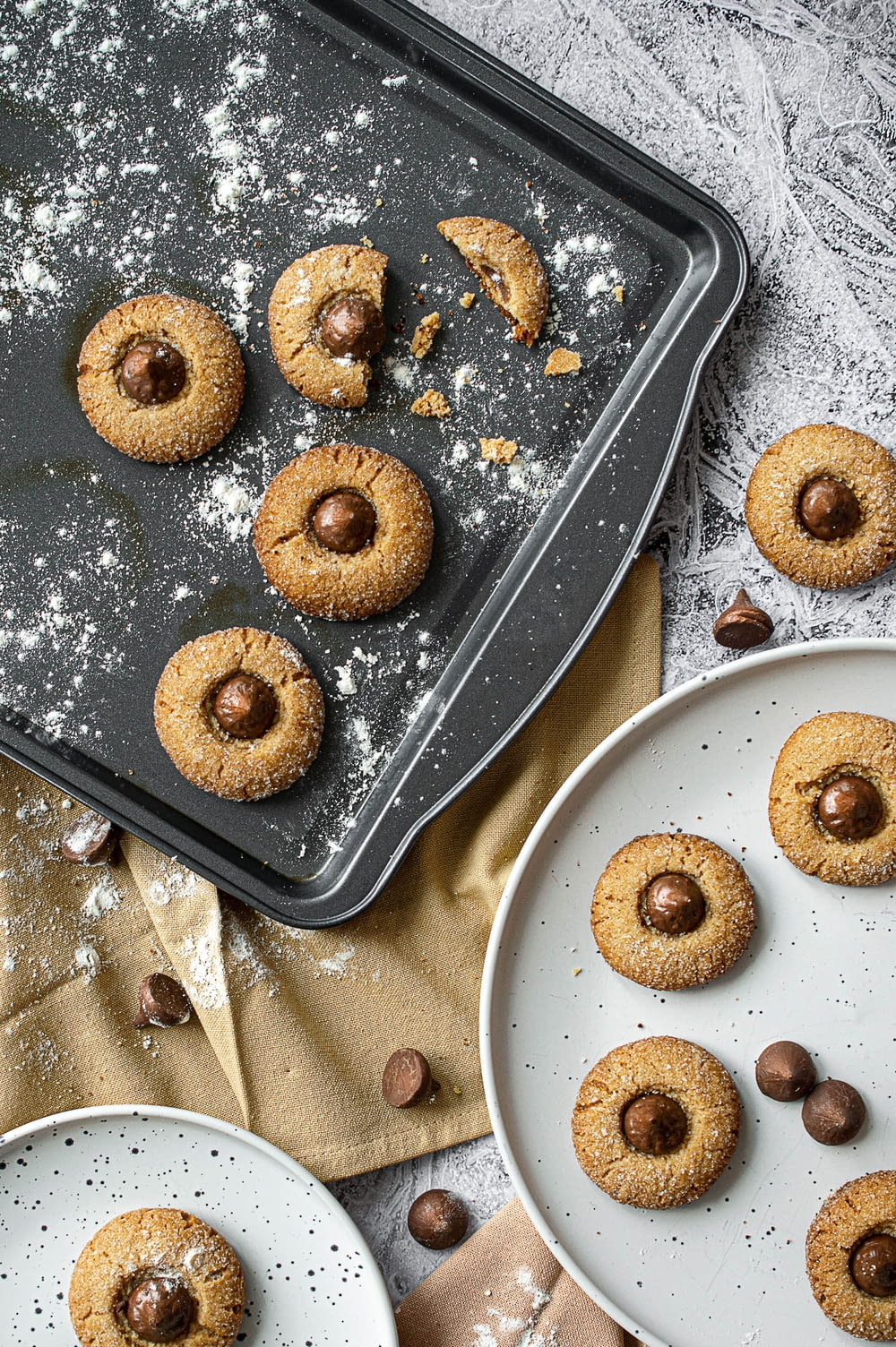 brown donuts on white ceramic plate