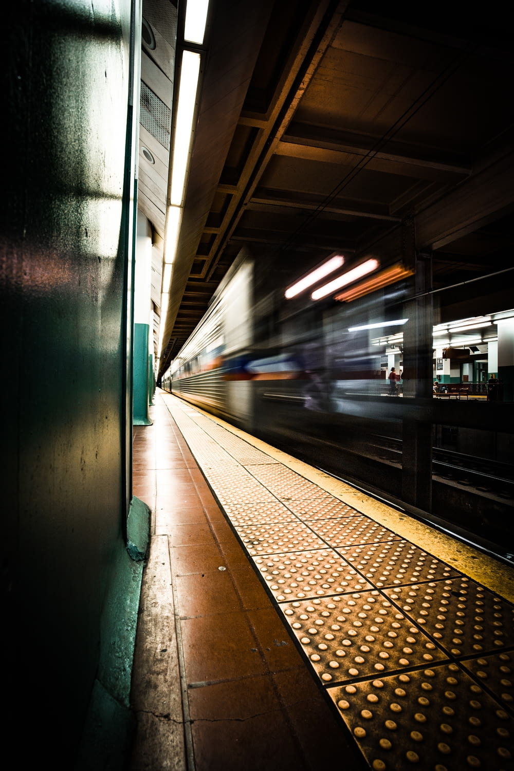 time lapse photography of train station