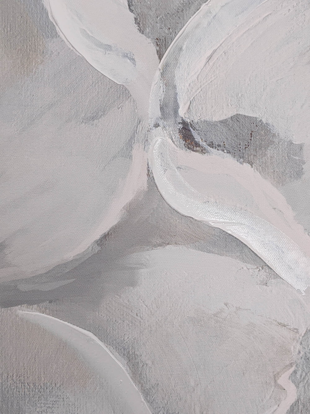 gray and white abstract painting