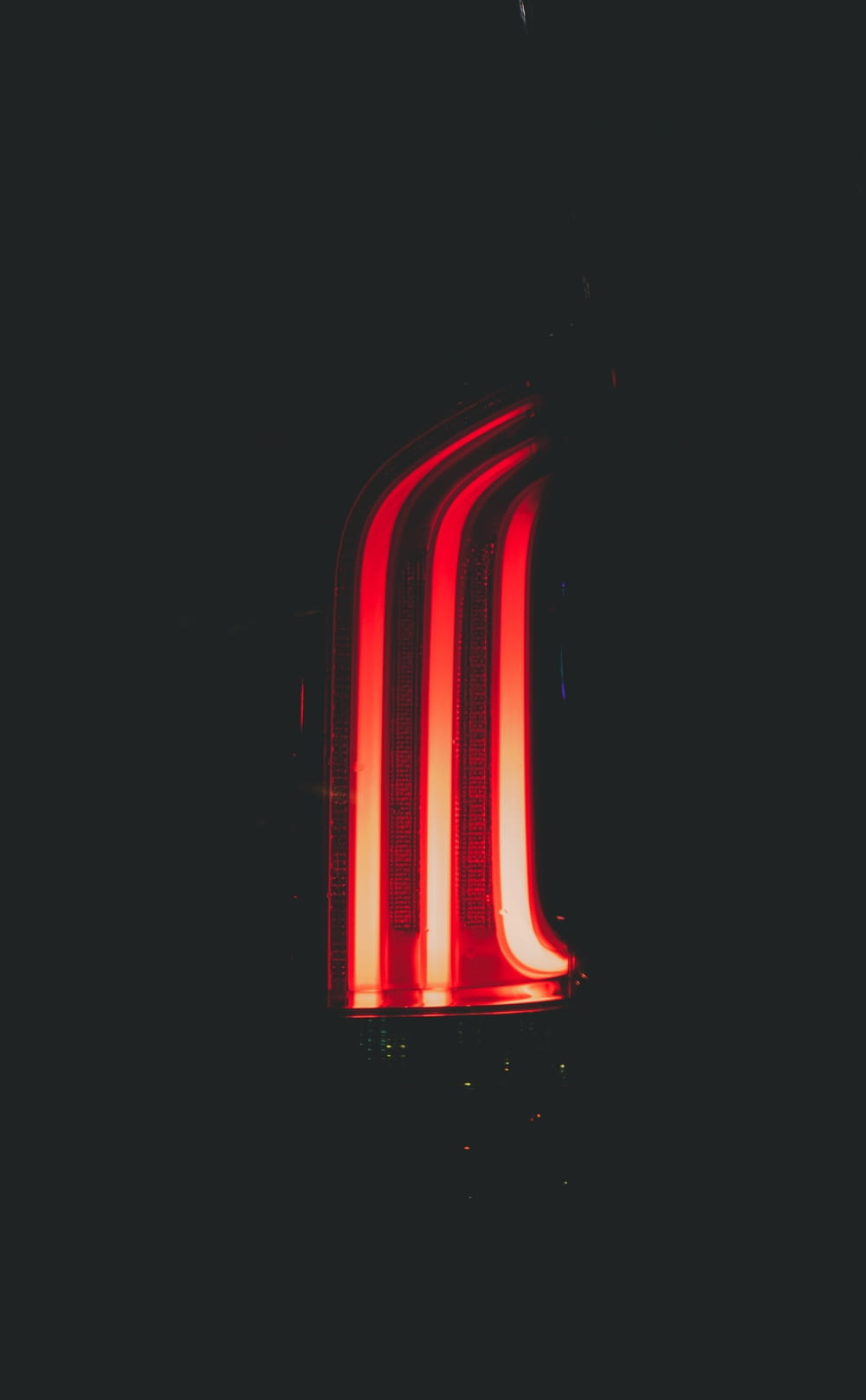 red and white striped light