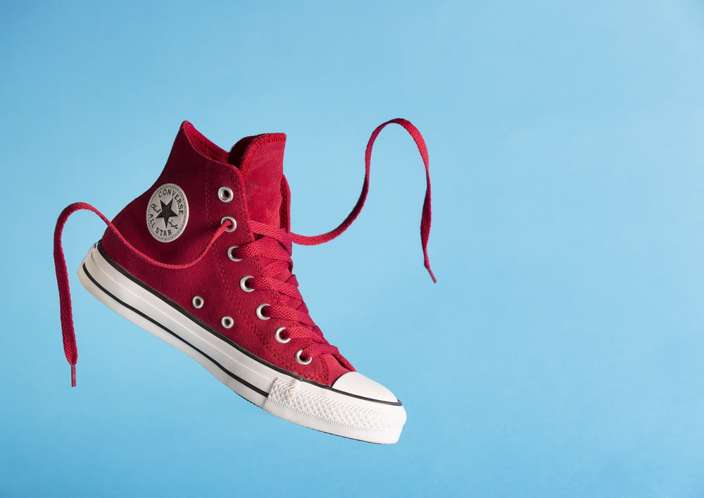 red converse all star high top sneaker