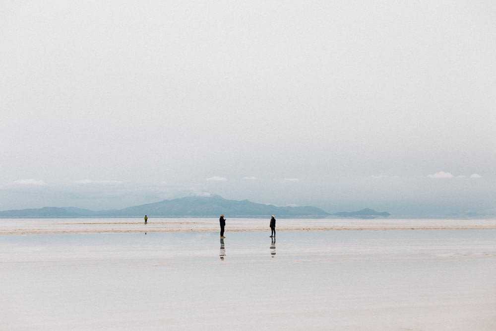 2 person walking on white sand beach during daytime