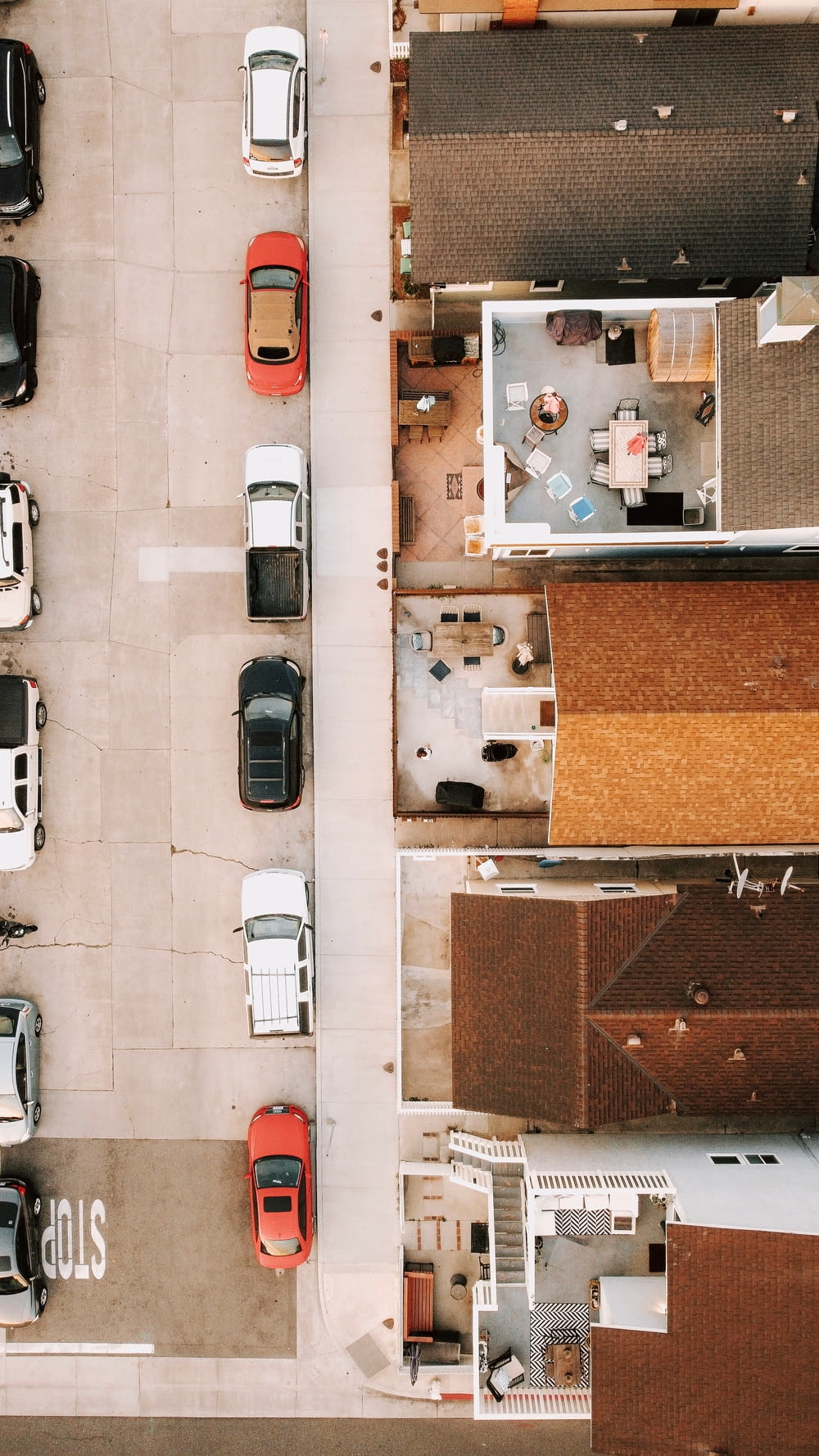 cars parked on parking lot during daytime