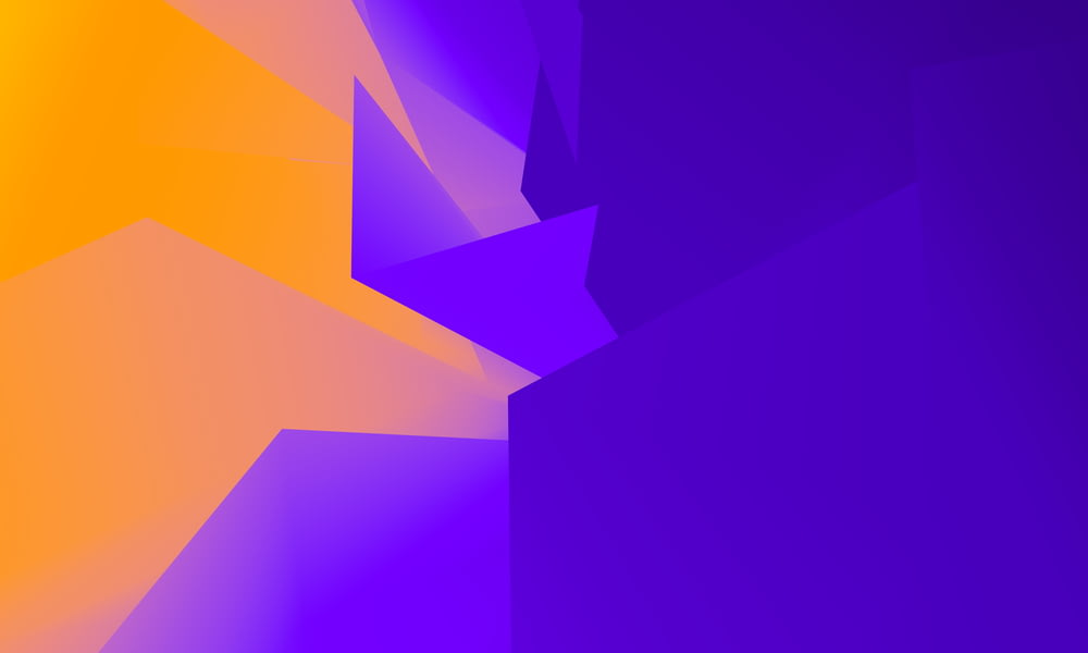 purple and yellow abstract illustration