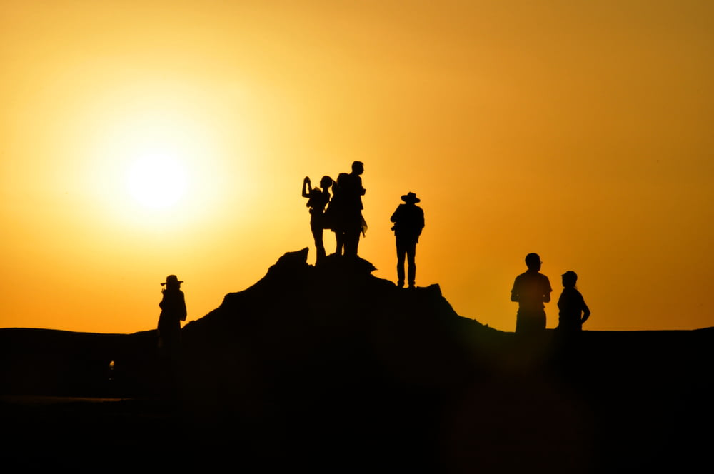 silhouette of people