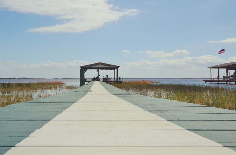 worm's eyeview of dock